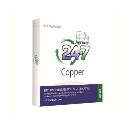 Agrimin 24-7 Copper  Cattle Bolus 24 x 29g Boluses