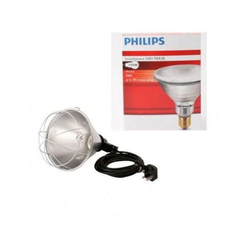 Infrared heatlamp & 175w bulb